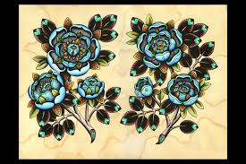 rose tattoo flash tattoo collections