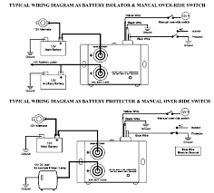 wiring diagram typical battery isolator circuits single wiring