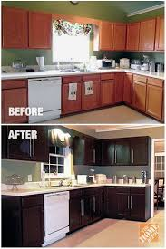 staining kitchen cabinets darker before and after kitchen cabinet refinishing query prompts gorgeous photos