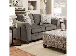 Loveseat With Ottoman United Furniture Industries 6485 Transitional Loveseat With Wood