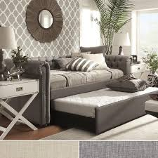 devyn tufted daybed cool cribs home knightsbridge tufted scroll arm chesterfield grey daybed with