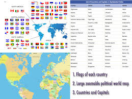 Map Of Africa With Capitals by World Capitals Flags Quiz Maps For Android Free Download And