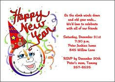 New Year Invitation Card New Years Invites For Your New Year U0027s Party Celebration Find Most