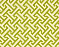 home decor fabric designer fabric green trellis green geometric