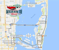 Miami City Map by American Dream Tour Miami Classic Car Tours U2013 City Tour