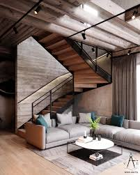 industrial style loft warm industrial style house with layout amazing stair designs