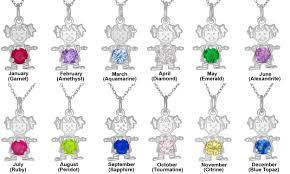 birthstones sterling silver 925 happy baby pendant with birthstones charm