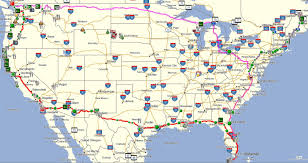 Usa Tourist Attractions Map by Southeast Usa Map And Canada Road Map And Navigation Icons Stock