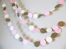 Wedding Garland Winter Onederland Party Decor Gold Pink And Ivory Paper Garland