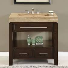 Bathroom Vanities 36 Inches Silkroad Exclusive Walnut Top Single Sink