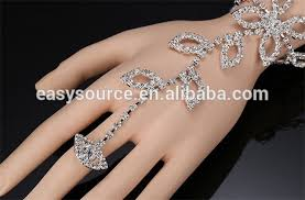 bracelet design with ring images Leaf design wedding finger chain ring bracelet slave bracelet with jpg