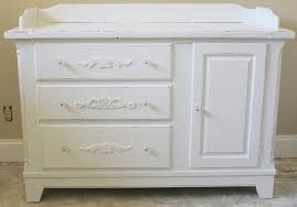 shabby chic nursery changing table