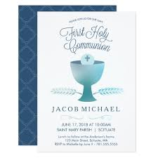 communion invitation holy communion invitation boy s small invite zazzle