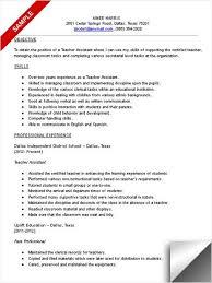 paraprofessional resume teacher assistant resumeg resumes samples