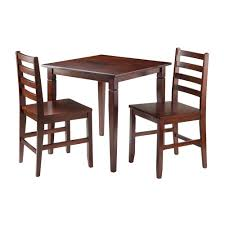 winsome wood 94363 kingsgate 3 piece dining table with 2 hamilton