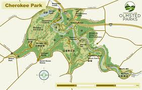 Louisville Map Cherokee Park Map Frederick Law Olmsted Parks