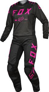 motocross gear ebay fox racing womens black pink 180 dirt bike jersey u0026amp pants kit