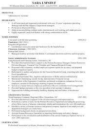 Executive Assistant Resume Template Resume Sample Administrative Assistant Great Administrative