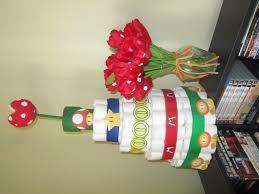 mario diaper cake diaper cake themed diaper cake