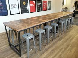 Bar Height Conference Table Made Reclaimed Wood And Steel Industrial High Top Conference