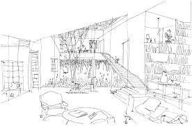spiral house interior sketch internal architectural sketch for