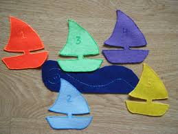 felt board ideas five little sailboats felt board poem