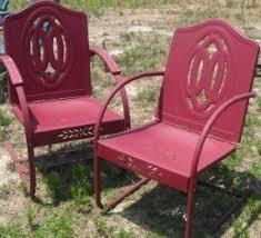 Retro Patio Furniture Iron Patio Chairs Foter