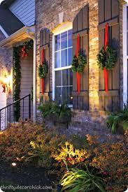 window wreaths christmas hang wreaths on shutters instead of windows