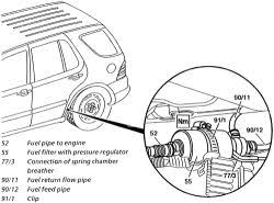 dodge durango fuel filter i need to replace fuel filter on a 2004 mercedes ml 350 do i