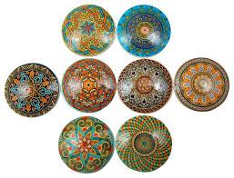 oriental mandalas oversized cabinet knobs 8 piece set