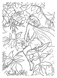 flower fairy jasmine coloring page for kids for girls coloring