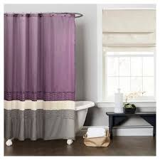 Purple And Brown Shower Curtain Purple Gray Shower Curtain Target