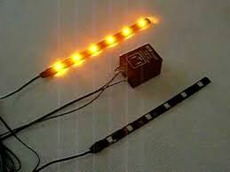 amber flashing led strip with flasher relay for turn signal youtube