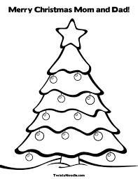 christmas tree drawing kids coloring