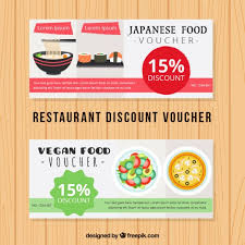 japanese food discount voucher vector free download