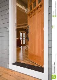 house front door open front door of a home stock image image of decor 14471935