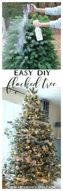 diy flocked tree artificial tree flocked