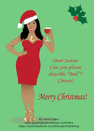 funny christmas card gorgeous sassy and curvy black african