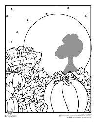 linus sally pumpkin patch coloring woo jr kids