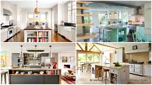 kitchen island pics 18 neat ergonomic kitchen islands designs featuring open shelving