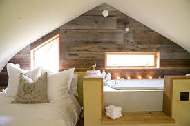 burlap ceiling ideas bedroom farmhouse with rustic wood panel wall
