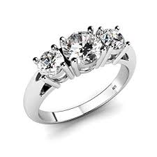 engagement rings sterling silver sterling silver 925 cubic zirconia cz 3