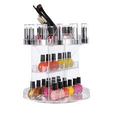 Box Makeup 360 degree rotating swivel large capacity acrylic makeup organizer