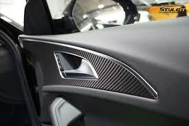 Vinyl Car Interior Audi Carbon Fiber Interior Wrap Vehicle Customization Shop