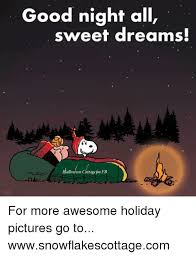 Sweet Dreams Meme - good night all sweet dreams halloween cottage pn fb for more