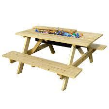 Kidkraft Outdoor Picnic Table by Amazon Com Merry Garden Cooler Picnic Table Kit Garden U0026 Outdoor
