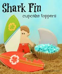 hello cupcake toppers shark fin cupcake toppers hello summer i heart nap time