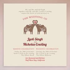 mehndi invitation elephant heart mehndi wedding invitation collection