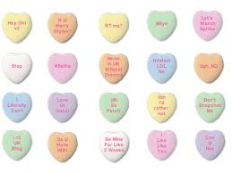 valentines heart candy sayings rejected candy hearts s day candy hearts