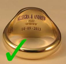 engraving inside wedding band when engraving wedding rings class rings make it able